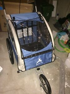 Double stroller and bike trailer