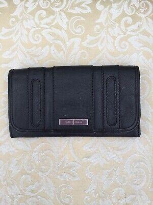 Debenhams Jasper Conran Leather Purse Wallet Black Excellent Condition