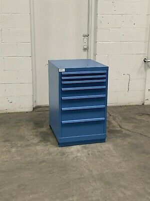 Used Lista 7 Drawer 22 Wide 36 Tall Cabinet Industrial Tool Storage 2201 Vidmar