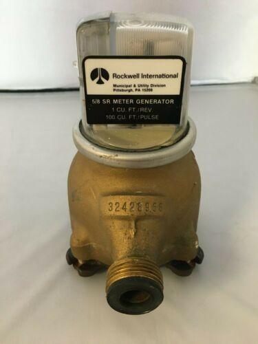 "Used Rockwell International 5/8"" SR  100 G/Pulse Water Meter"