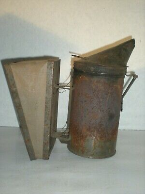 Vtg Large Beekeeper Smoker Bee Hive Keeping Primitive Tool Bellows Fogger