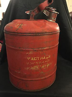 Vintage Red 5 Gallon Safety Gas Can Underwriters Laboratories Inc Auto Primitive