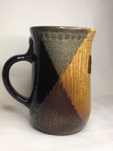 Vintage Pottery Craft 3D Face Mug Hand Crafted Stoneware Cup 5 3/4  - $18.00