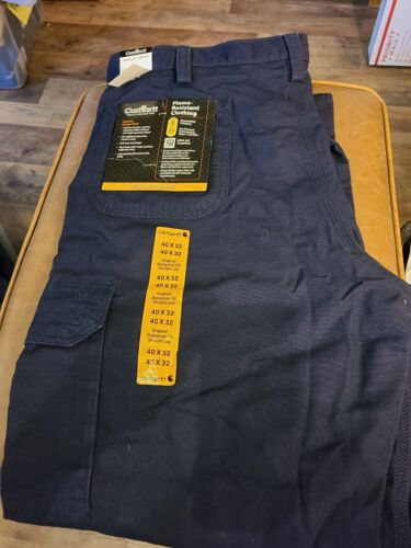 Carhartt FRB240  Flame-Resistant Canvas LooseOriginal Fit Cargo Pant NWT 40X32
