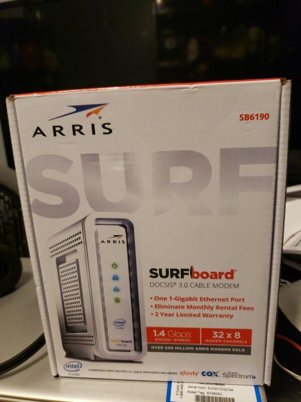 ARRIS SURFboard SB6190 32x8 DOCSIS 3.0 Cable Modem - White, New!