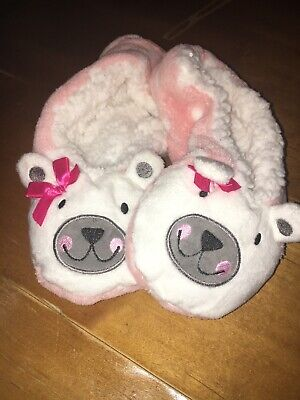 Equalizer Slippers Booties Polar Pink Bear Plush M/L - Polar Slippers