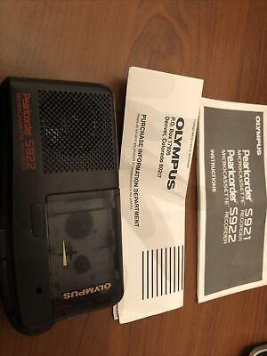Olympus Pearlcorder 5922 Handheld Microcassette Voice Recorder. D