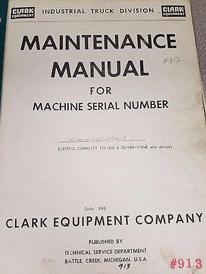 Clark Forklift Ec40b Maintenance Manual