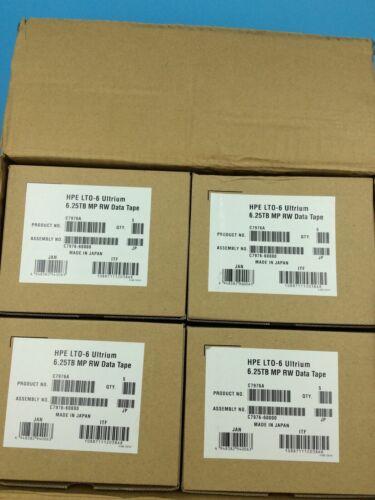 NEW- ORIGINAL HP/ HPE LTO-6 (20 PACK) C7976A Backup Data Tape