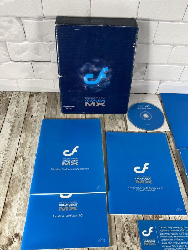 MacroMedia ColdFusion MX Professional Edition Software CD-ROM & Manuals