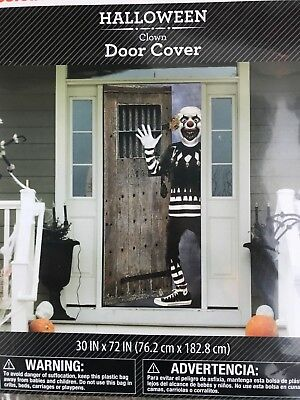Halloween Scary Clown Door Cover or Wall Decoration 30