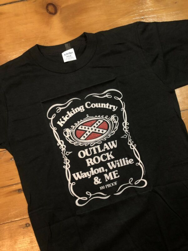 Vintage NOS 1977 David Allan Coe Waylon Willie Me Country Promo Shirt Sz M Rare