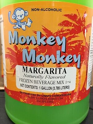 Margarita Frozen Beverage Mix Case 4 1 Gallon Slush Mix Drink Concentrate Monk