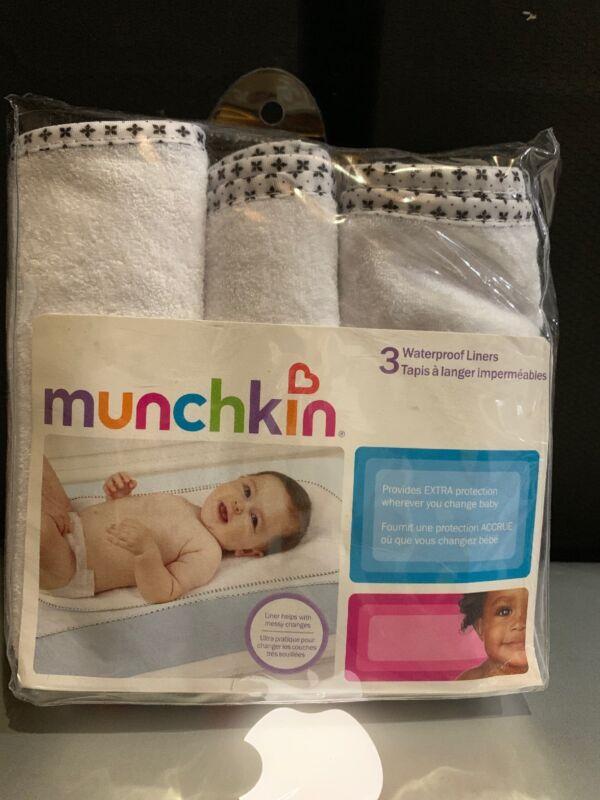 Munchkin waterproof liners, 3 pack, White, New, Free shipping