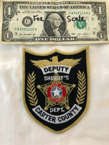 Carter County Sheriffs Dept.Oklahoma Police Patch un-sewn Mint Patches