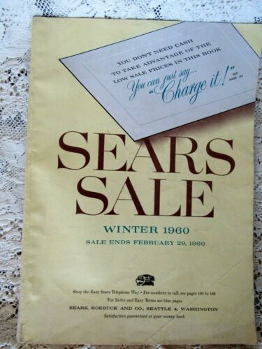 Sears 1960 Winter Sale Catalog, 377 pages