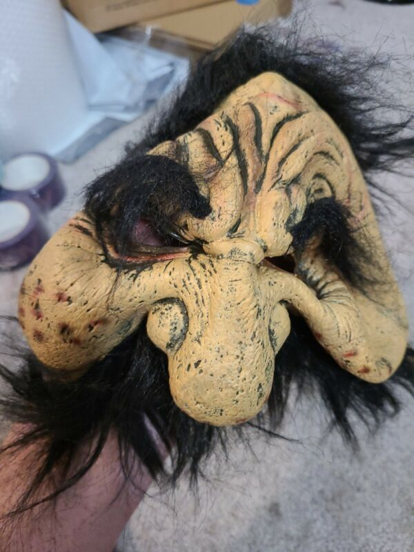 Scary Halloween Mask,2005, The Paper Magic Group,Old Man,Rare,Vintage,Collector