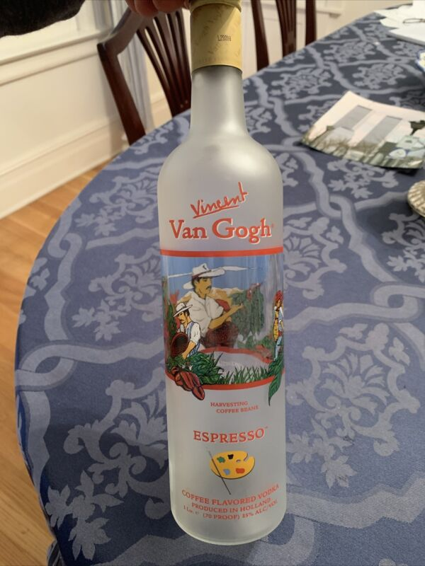 Vincent Van GOGH collectors Edition empty Vodka Bottle