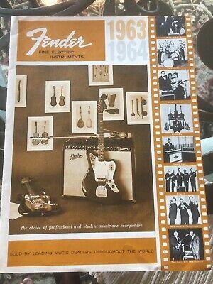Vintage Guitar Catalog Fender 1963 1964
