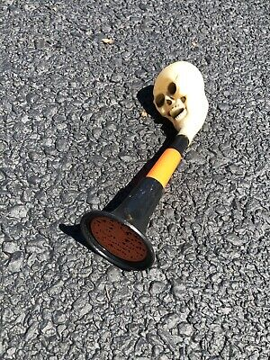 Vintage Halloween Fun World Skull Horn/Noisemaker Toy