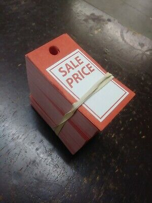 Red And White Sale Price Merchandise Tags Pack Of 500