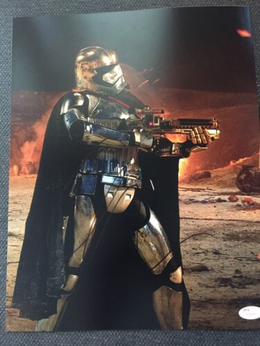 Star Wars Gwendoline Christie Autographed Signed 11x14 Photo JSA COA