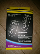 Yongnuo rf-603N flashlight trigger Pyrmont Inner Sydney Preview