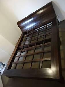 Beautiful Indonesian platform bed in solid dark teak Woolloomooloo Inner Sydney Preview