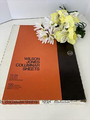 Vtg Wilson Jones Columnar Sheets 10-24 914 X 11 78 24 Columns
