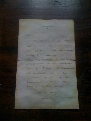 Winston Churchill, replica letter originally by hand on the 7th of Januar 1904
