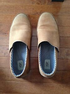 UGG Australia men's chestnut nutbuck slip on dress shoes size 12
