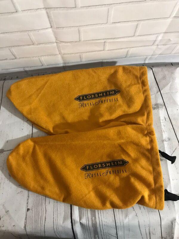2 Sets Royal Imperial Florsheim Shoe Bags Felt Drawstring Dust Covers Travel