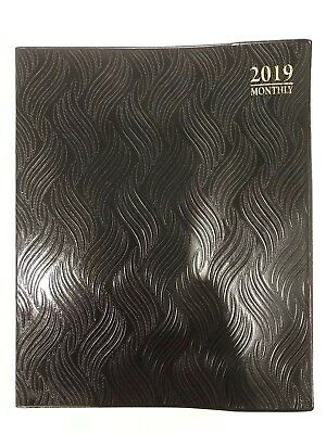 2019 Black Monthly Day Planner Appointment Book Calender Organizer 8 X 10