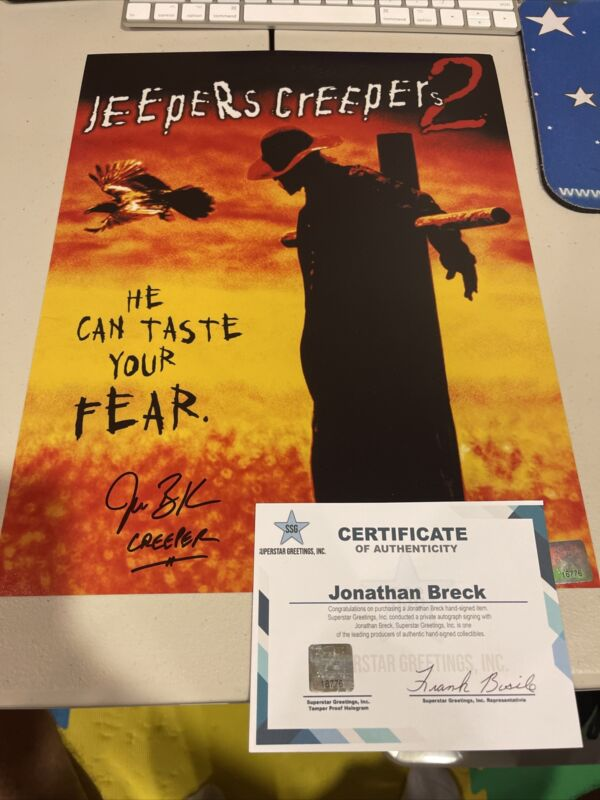 Autographed Jonathan Breck Signed 11x14 Jeepers Creepers 2 Photo Poster Ssg Coa
