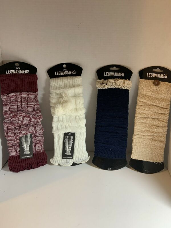 Womens Legwarmers Four Pack New