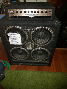 Behringer amp head in melbourne region vic musical instruments behringer head and quad box 60000 negotiable behringer ultrabass bx4500h fandeluxe Image collections