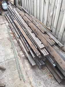 Recycled Australian hardwood  timber.  Various sizes lengths Bentleigh East Glen Eira Area Preview