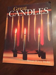 Lot of candle and craft making books