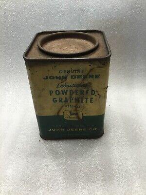 Vintage John Deere Powdered Graphite 1lb Container - Empty Part # B13243b (John Deere Container)