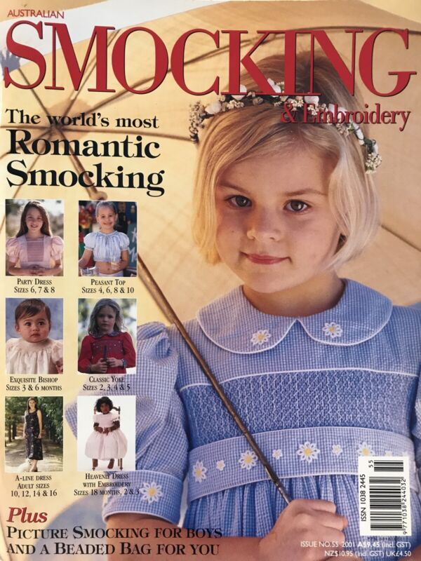 New with Patterns still attached  - Smocking Magazine - Issue No 55 - 2001