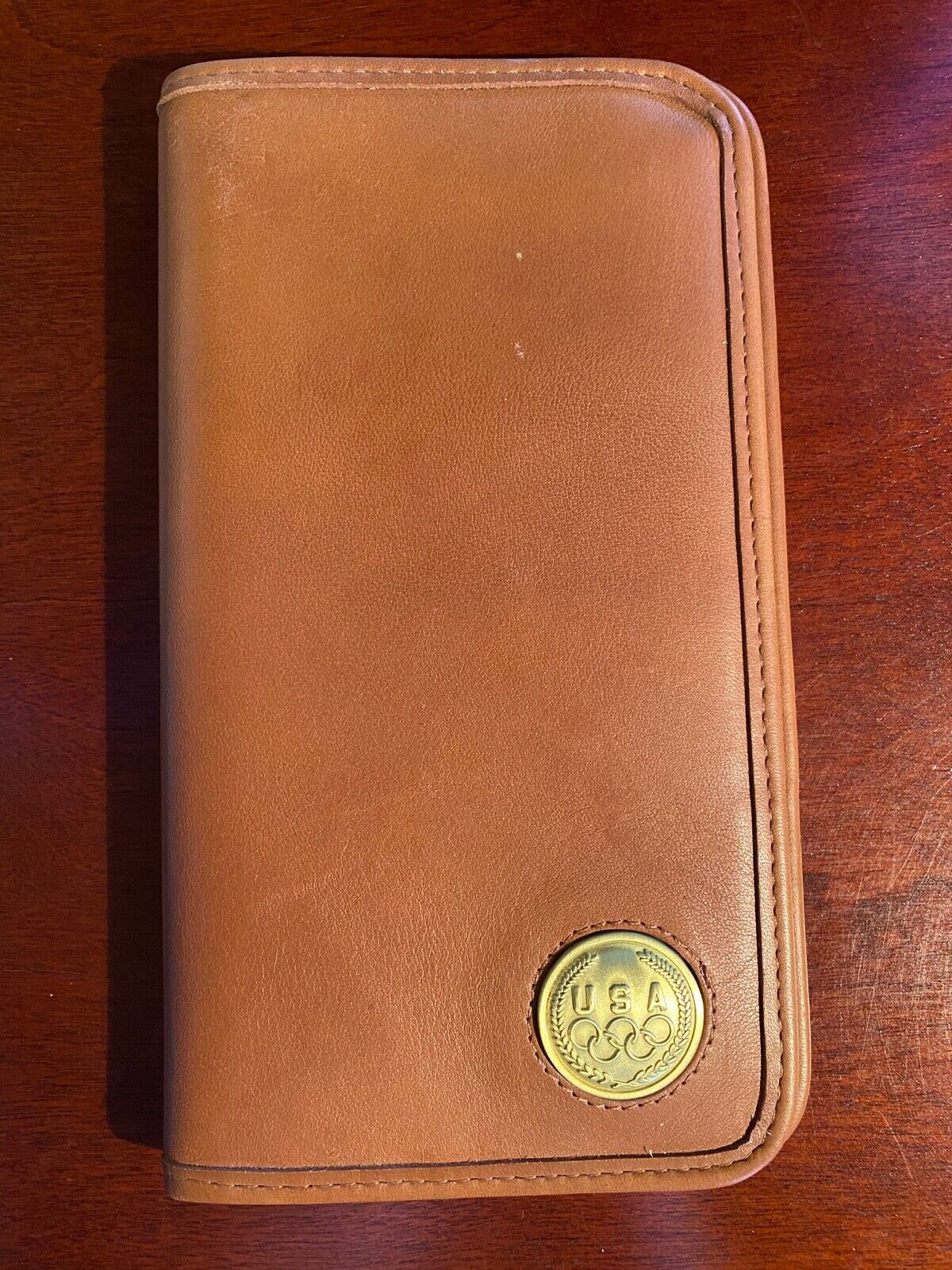 COACH Leather Travel Wallet, USA Olympic Commemorative - $40.00