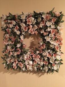 Beautiful Square Silk Rose Wreath