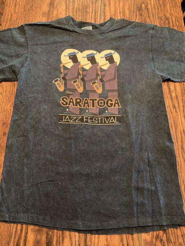 Saratoga (N.Y.) Jazz Festival T-shirt Oneita Color Wear Large RARE/EXC.!!!