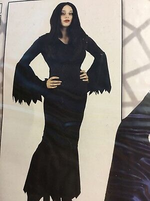 Ladies Size XL 16/18 Adams Family Morticia Fancy Dress Costume Outfit Adult
