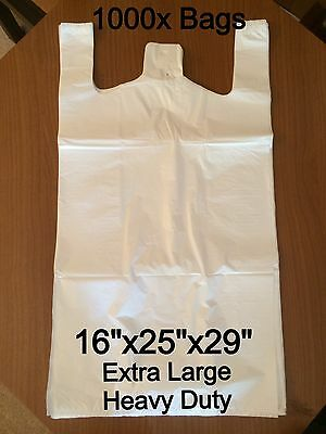 Extra Large Heavy Duty White Vest Carrier Bags (1000x Bags) 16