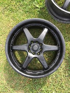 "18"" Flat Black univeral 4bolt rims"
