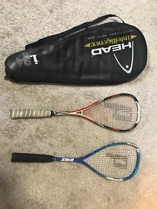 Prince Racquets and Head Bag - Prince Pro Tour and Benetton