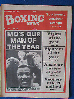 Boxing News Magazine   26 12 80   Maurice Hope Cover