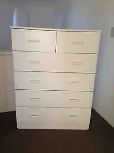FREE 6 drawer white chest of drawers Yokine Stirling Area Preview