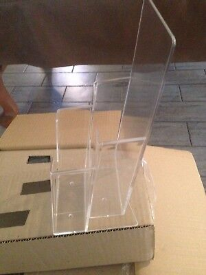 New Clear Acrylic 2-tier Brochure Pamplet Holder - 32 Pieces